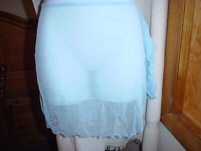 Playboy Sheer Swim Sarong One/Size Light Blue NWT Playboy Sheer