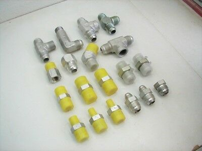Hydraulic Tube Fittings - (18) 3/4 Parker Hydraulic JIC Flared Tube Fittings