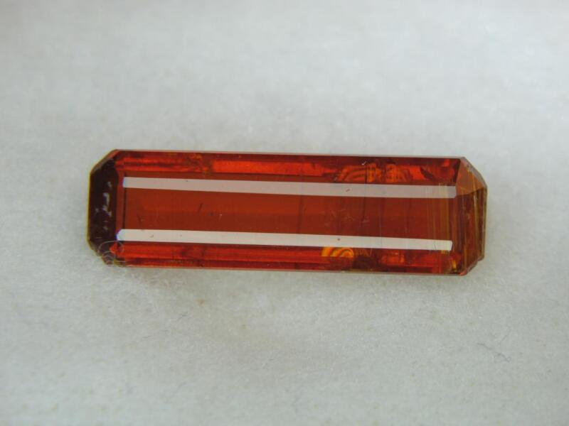 7.60CT NEW STUNNING SUPER RARE COLLECTOR GEM RED ORANGE FACETED KENYIAN KYANITE