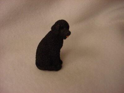 PORTUGESE WATER DOG  puppy TiNY FIGURINE Resin  MINIATURE Mini Pet Statue NEW