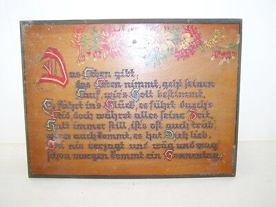 Old Quotation Board, Wooden Sign, Blessing, Door Sign with Saying