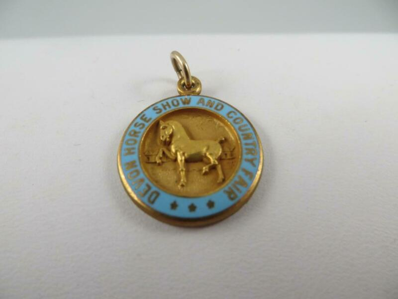 Devon Horse Show & Country Fair PA Charm Pendant Gold Filled, Enamel 1/10 12K GF