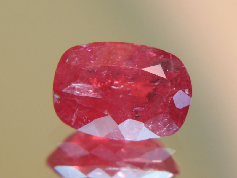 4.58CT XRARE TRANSLUCENT FACETED AUSTRAILIAN RHODONITE
