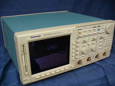 Tektronix Tds654c 4 Ch Digital Real Time 500 Mhz 5 Gss Oscilloscope Tek Tds Fft