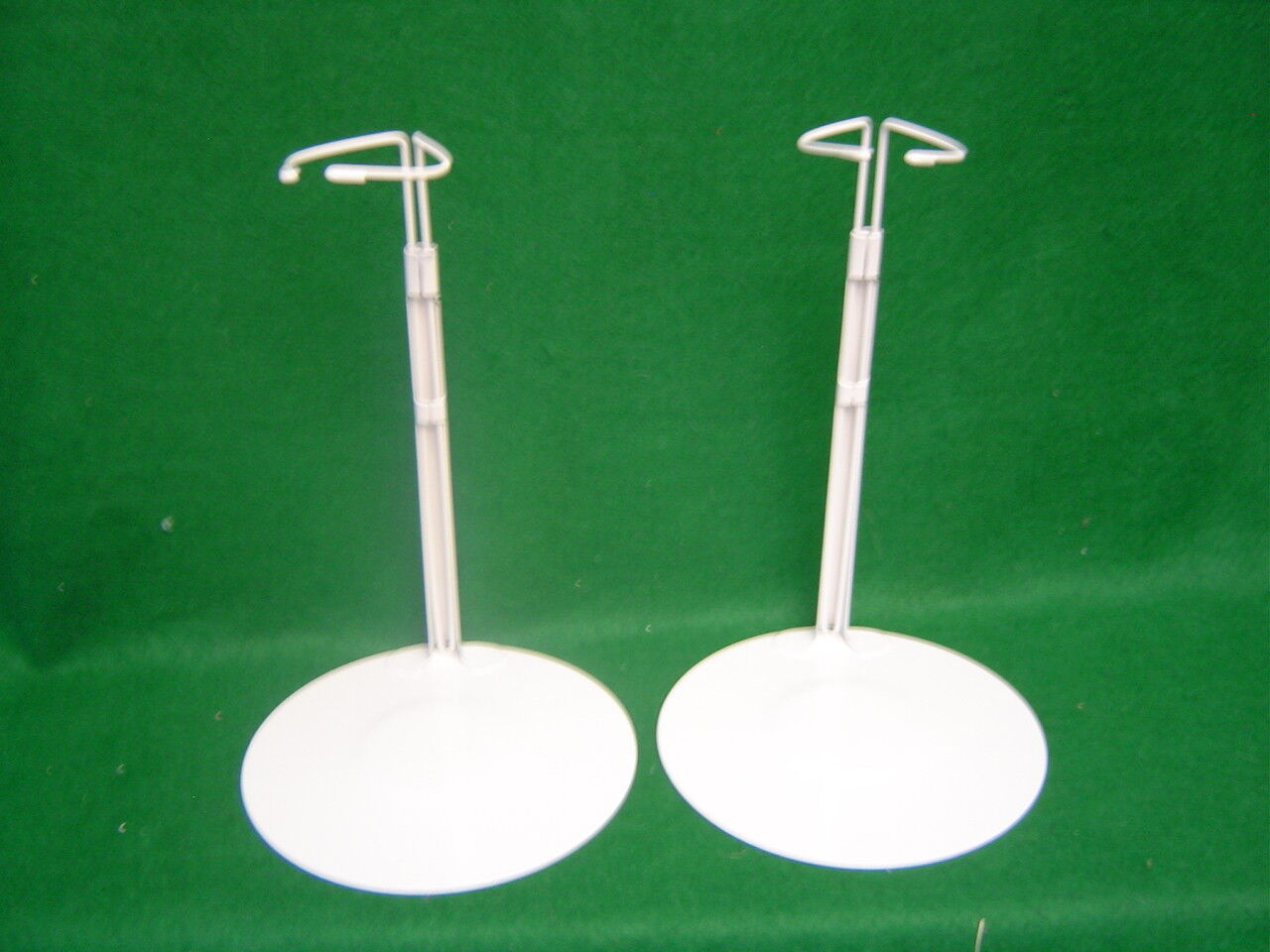 Doll Stands Set Of Two Gray Metal Stands For 12-20 Inch Dolls And Teddy Bears  - $6.99
