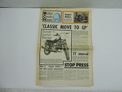 Nov 1973 Motor Cycle News Newspaper Suzuki RX5 Kawasaki 400 Twin L11053