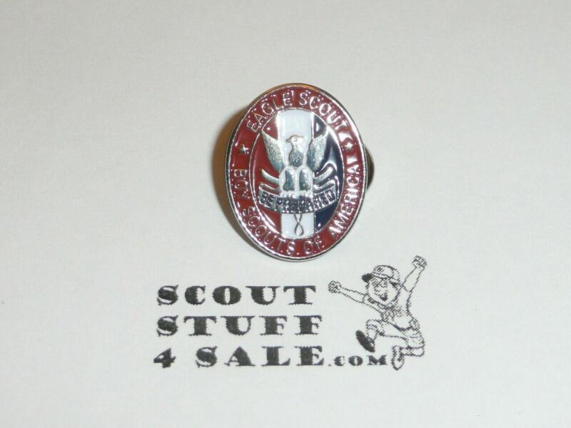 "Eagle Scout Enameled Lapel Pin, 3/4"" Tall, From  1980s - GREAT EAGLE SCOUT GIFT"