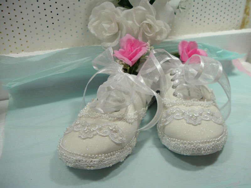 "Wedding Shoes Bridal Sneakers ""Beads & Pearls"""