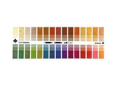 Seasonal Fabric Color Swatch Dark (True) Autumn with 30 x 3 Colors for Image (True Dark Glasses)
