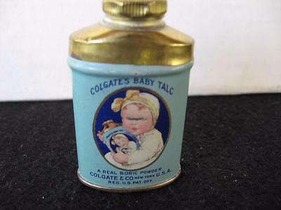 Vintage  Colgate's Baby Powder Tin Sample