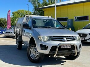 2010 Mitsubishi Triton MN MY10 GLX 4x2 Silver 4 Speed Automatic Cab Chassis South Toowoomba Toowoomba City Preview