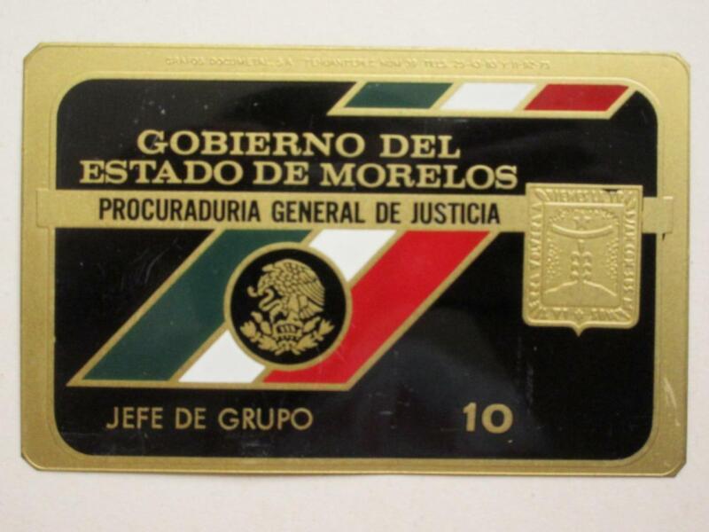OBSOLETE 1960s MORELOS MEXICO PROCURADURIA GENERAL MEXICAN POLICE BADGE POLICIA