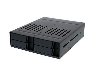 "iStarUSA BPX-124-SA 5.25"" to 4 x 2.5"" SATA 6 Gbps HDD SSD Hot-swap Rack"