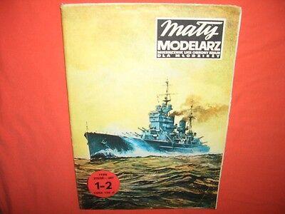 Modellbaubogen Maly Modelarz 1-2/1986, Panzerschiff KING GEORGE V in 1:300