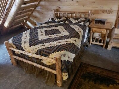 Rustic Log Bed!  Rustic Log Funiture!  Wilderness Series Saves space and money! Pine Log Bed