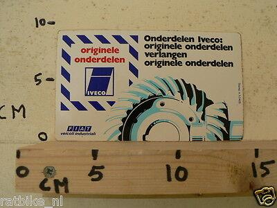 STICKER,DECAL FIAT ORIGINELE ONDERDELEN IVECO TRACTOR