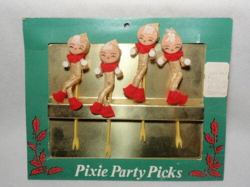 Vintage Japan Elves Pixie Party Picks in Original Packaging