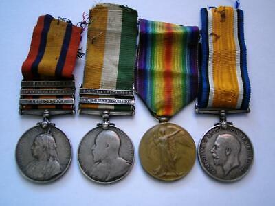 WW1 Boer War KSA QSA 3 bar medal Sgt Killarney KOSB &RS FUS Fr Holbeck Yorkshire
