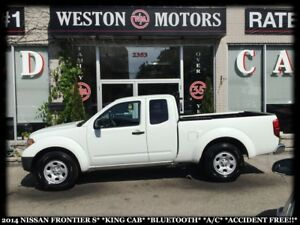2014 Nissan Frontier S*KING CAB*BLUETOOTH*A/C*ACCIDENT FREE!!*