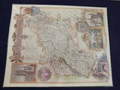 Reproduction Antique Map Gloucestershire 16 x 20 inches.