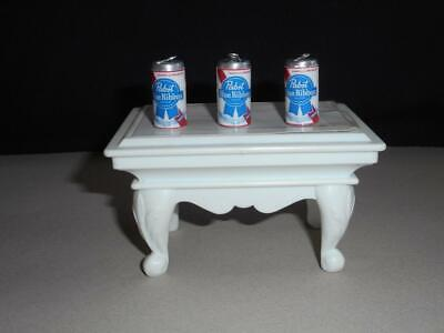 BEER CAN CHARMS 3 MINI (PABST BLUE RIBBON ) BEER CAN CHARMS / DOLL HOUSE CANS
