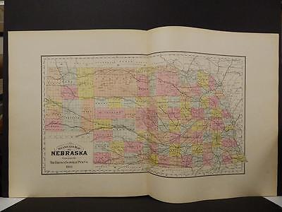 Nebraska State Map, 1903, Hand Color, L1#10