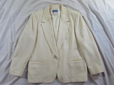 Vtg Womens Pendleton Wool Blazer Jacket Sport Coat 1 Button USA Made Nice!