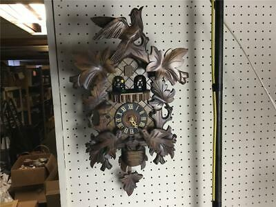 Bird 1 Day Cuckoo Clock - Reuge Musical 1 Day Cuckoo Clock Germany With Bird Nest New 3 Weights Plays Good