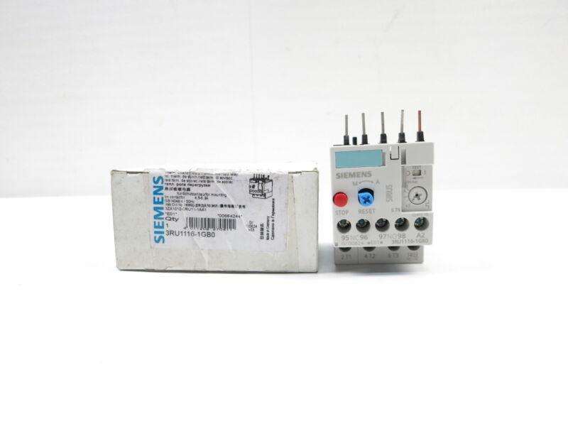 Siemens 3RU1116-1GB0 Sirius 4.5-6.3a Amp 690v-ac Overload Relay