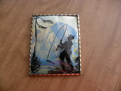 ( 2 ) SILHOUETTE PICTURES -  ART DECO PERIOD - FRAMED IN CURVED GLASS -