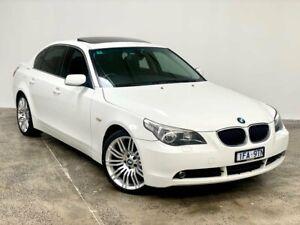 2004 BMW 5 Series E60 525i Steptronic White 6 Speed Sports Automatic Sedan