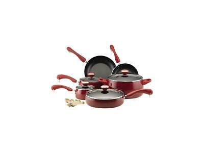 - Paula Deen 15-pc. Nonstick Signature Porcelain Cookware Set, Red