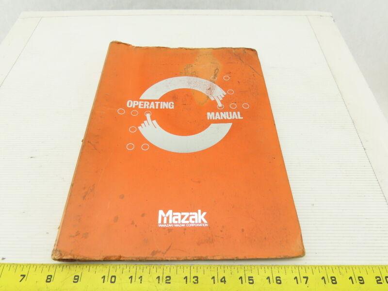 Mazak Slant Turn 40N ATC M/C PC Screen Operator Manual For Fanuc 11T-A Controls