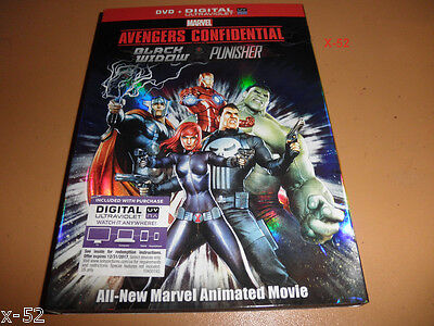 AVENGERS confidential ANIMATED dvd PUNISHER vs BLACK WIDOW iron man HULK thor