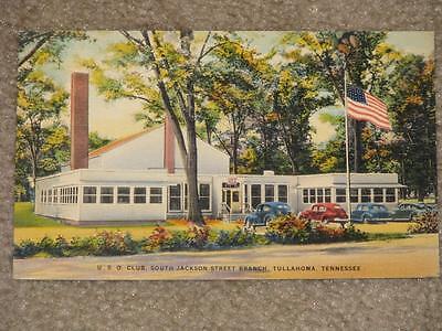 U.S.O. Club, South Jackson St. Branch, Tullahoma, Tenn., unused vintage card