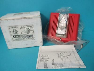 New Est Edwards 757-3a-t Temporal Fire Alarm Horn Strobe Red 24v Dccc Integrity