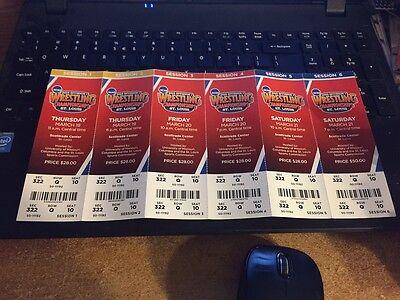 2015 Ncaa Wrestling Championship Ticket Strip Sheet Set Stub St  Louis Scottrade