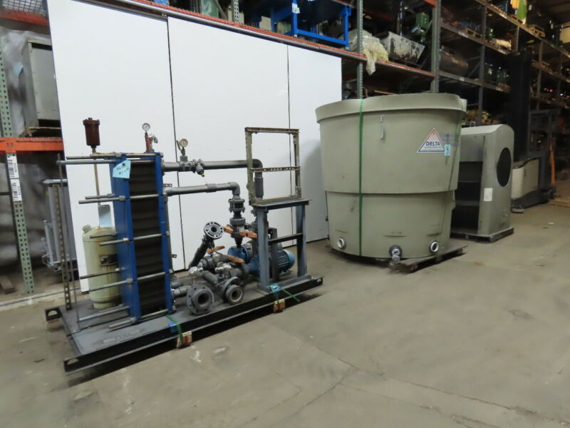 Delta T-75 75 Ton Cap. 7.5Hp Forced Draft Cooling Tower Heat Exchanger Package