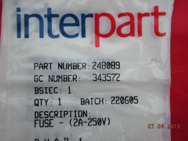Baxi Platinum 24HE 28HE 33HE & 40HE PCB Printed Circuit Board Fuse 248089