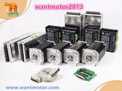German Free!Wantai 4Axis Nema34 Stepper Motor 1232oz-in&Driver 7.8A Schrittmotor