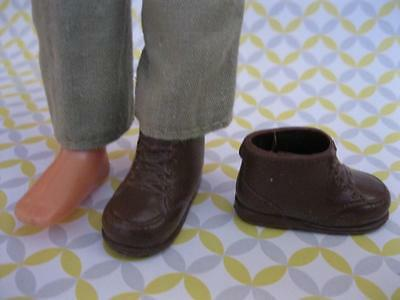 vtg barbie Mattel 1973 Sunshine Family DAD Doll Father STEVE-Brown BOOTS Shoes