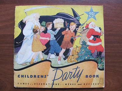 1935 Children's Party Book Games Recipes Halloween Christmas AE Staley Mfg IL - Halloween Party Games Children