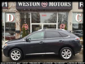 2010 Lexus RX 350 *AWD*PREMIUM*LEATHER*SUNROOF*2 SET OF TIRES*