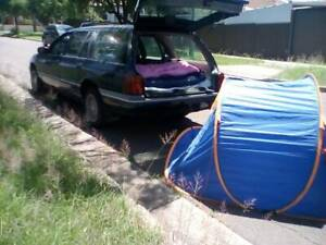 Reliable wagon for travel,sleep in,a year nsw rego slip,campings