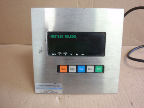 MODEL 8510-2001 Mettler Toledo Terminal Weigh Meter With Analog Option Interface