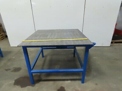 48 X 48 X 36-12 Tall Steel Top 38 Welding Assembly Fabrication Bench Table