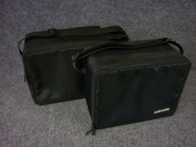 2 Case Logic Portable Black Nylon 30 CD Storage Holders