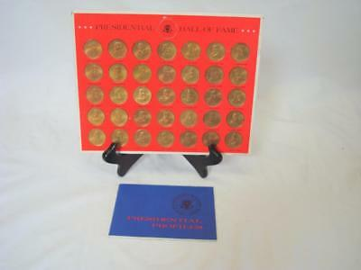 1968 Franklin Mint 35 Coin Presidential Hall of Fame Set with