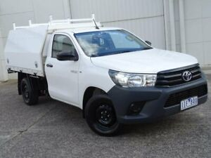2016 Toyota Hilux TGN121R Workmate 4x2 White 5 Speed Manual Cab Chassis Bundoora Banyule Area Preview