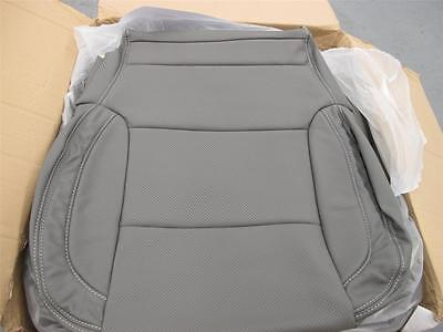 2014 2015 2016 Chevy Silverado Sierra Crew Katzkin leather seat covers  Dk Ash